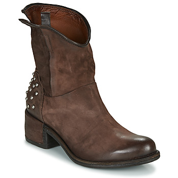 Chaussures Femme Bottines Airstep / A.S.98 OPEA STUDS Marron