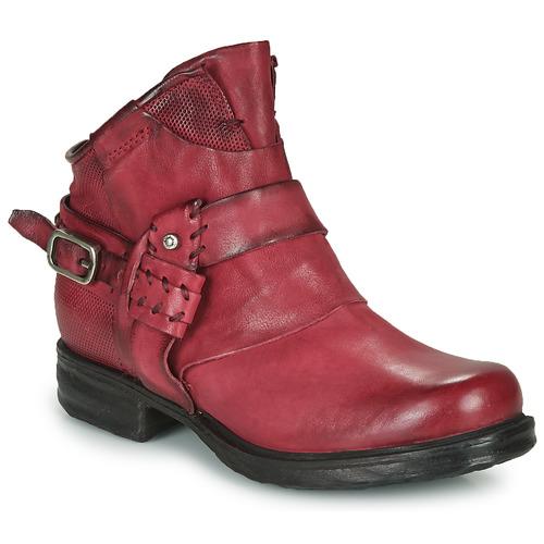 Chaussures Femme Boots Airstep / A.S.98 SAINT EC STRAPE Bordeaux