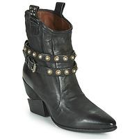 Chaussures Femme Bottines Les Iles Wallis et Futuna TINGET BUCKLE Noir