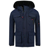Vêtements Garçon Parkas Geographical Norway ALCALINE BOY Marine