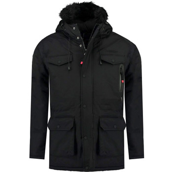 Vêtements Garçon Parkas Geographical Norway ALCALINE BOY Noir
