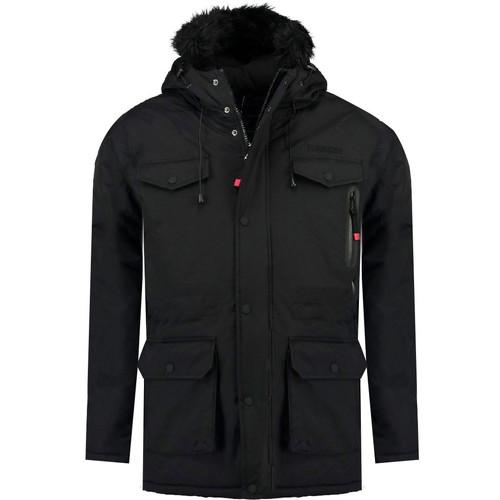 Vêtements Garçon Parkas Geographical Norway ALCALINE BOY Noir