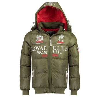 Vêtements Garçon Doudounes Geographical Norway AVALANCHE BOY Kaki