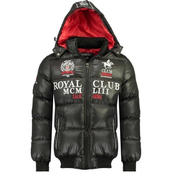 Vêtements Garçon Doudounes Geographical Norway AVALANCHE BOY Noir