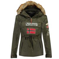 Vêtements Garçon Parkas Geographical Norway BARMAN BOY Kaki