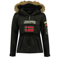 Vêtements Garçon Parkas Geographical Norway BARMAN BOY Noir