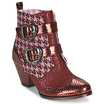 Chaussures Femme Boots Irregular Choice TOO HEARTS Bordeaux