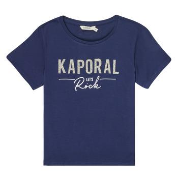 Vêtements Fille T-shirts manches courtes Kaporal MAPIK Marine