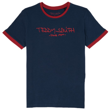 Vêtements Garçon T-shirts manches courtes Teddy Smith TICLASS 3 Marine