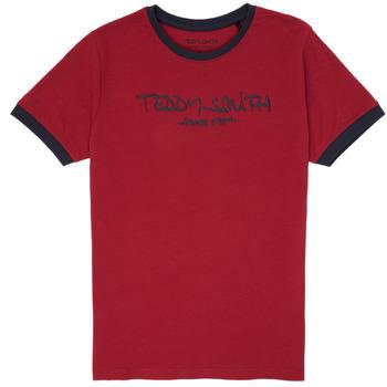 Vêtements Garçon T-shirts manches courtes Teddy Smith TICLASS 3 Rouge