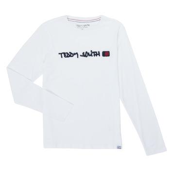 Vêtements Garçon T-shirts manches longues Teddy Smith CLAP Blanc