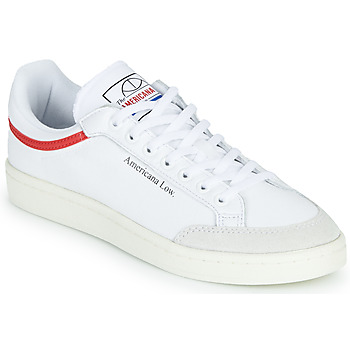 Chaussures Baskets basses adidas Originals AMERICANA LOW Blanc / Rouge