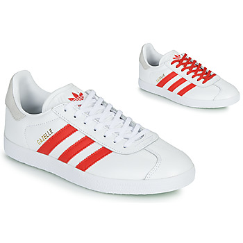 Chaussures Femme Baskets basses adidas Originals GAZELLE W Blanc / Rouge
