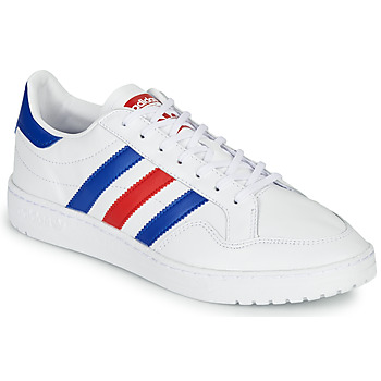 Chaussures Baskets basses adidas Originals TEAM COURT Blanc / Bleu / Rouge