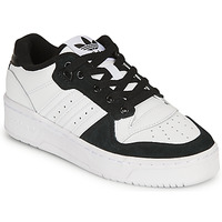 Chaussures Enfant Baskets basses adidas Originals RIVALRY LOW J Blanc / Noir