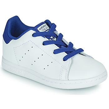 Chaussures Garçon Baskets basses adidas Originals STAN SMITH EL I Blanc / Bleu
