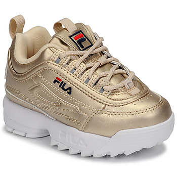 Chaussures Fille Baskets basses Fila DISRUPTOR F INFANTS Doré