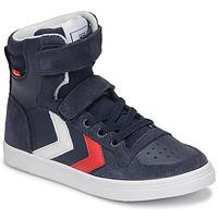 Chaussures Enfant Baskets montantes Hummel SLIMMER STADIL HIGH JR Bleu