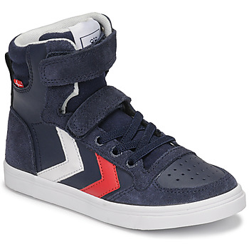 Chaussures Enfant Baskets montantes Hummel SLIMMER STADIL HIGH JR Bleu