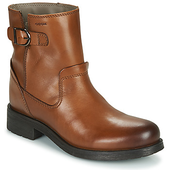 Chaussures Femme Boots Geox RAWELLE Cognac