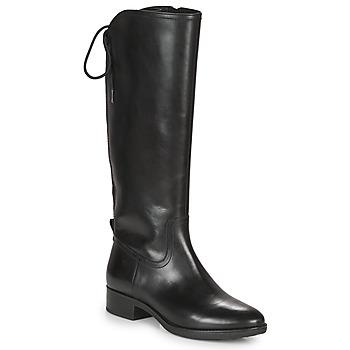 Chaussures Femme Bottes ville Geox FELICITY Noir