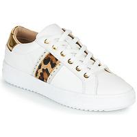 Chaussures Femme Baskets basses Geox PONTOISE Blanc / Léopard
