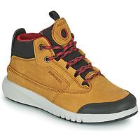Chaussures Garçon Boots Geox AERANTER ABX Miel
