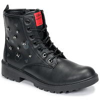 Chaussures Fille Boots Geox CASEY Noir