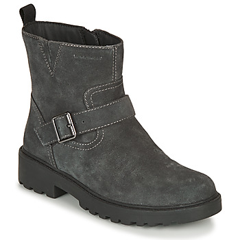 Chaussures Fille Boots Geox CASEY WPF Gris