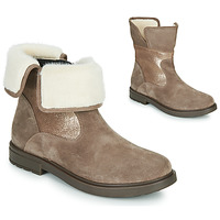 Chaussures Fille Boots Geox ECLAIR Beige