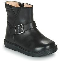 Chaussures Fille Bottes ville Geox HYNDE WPF Noir