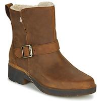 Chaussures Femme Boots Timberland GRACEYN BIKER WP Marron