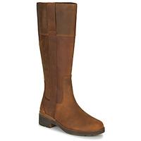 Chaussures Femme Bottes ville Timberland GRACEYNTALLSIDEZIPWP Marron