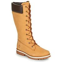 Chaussures Fille Bottes ville Timberland COURMA KID GIRLS TALL ZIP Blé