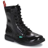 Chaussures Femme Boots Kickers MEETICKZIP Noir Vernis