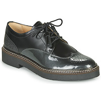 Chaussures Femme Derbies Kickers OXANYBY Noir Argent