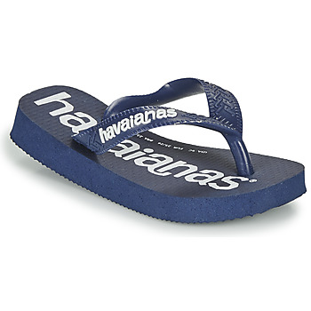 Chaussures Garçon Tongs Havaianas Top Logomania Marine