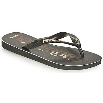 Chaussures Tongs Havaianas Top Logomania Noir