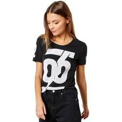 Vêtements Femme T-shirts manches courtes adidas Originals Number Tshirt Blanc, Noir