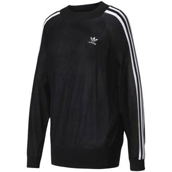 Vêtements Femme Sweats adidas Originals Stripes Sweater Noir