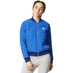 Vêtements Femme Blousons adidas Originals Originals Quilted Tracktop Bomber Bleu