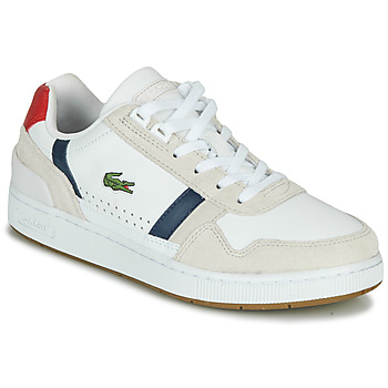 Chaussures Femme Baskets basses Lacoste T-CLIP 0120 2 SFA Blanc / Marine / Rouge