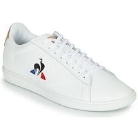 Chaussures Homme Baskets basses Le Coq Sportif COURTSET Blanc / Cognac