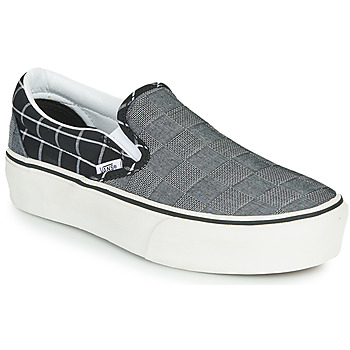 Chaussures Femme Slip ons Vans CLASSIC SLIP-ON PLATFORM Gris