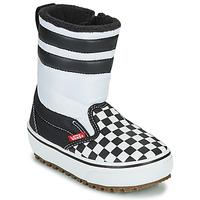 Chaussures Enfant Bottes de neige Vans YT SLIP-ON SNOW BOOT MTE Noir / Blanc