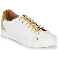 Chaussures Femme Baskets basses Le Temps des Cerises VIC Blanc / Doré