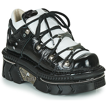 Chaussures Femme Baskets basses New Rock  Noir / Blanc