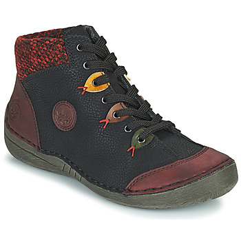 Chaussures Femme Boots Rieker 52513-36 Noir / Bordeaux