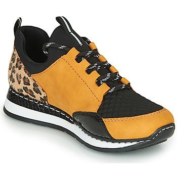 Chaussures Femme Baskets basses Rieker N3083-68 Cognac / Noir