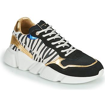 Chaussures Femme Baskets basses Serafini OREGON Noir / Blanc / Doré